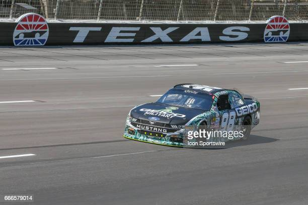 Casey Mears drives into turn 1 during the My Bariatric Solutions NASCAR Xfinity Series race on April 8 2017 at Texas Motor Speedway in Fort Worth TX