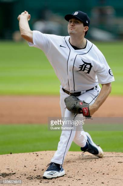 Casey Mize of the Detroit Tigers pitches against the Minnesota Twins during the second inning at Comerica Park on August 30 in Detroit, Michigan. All...