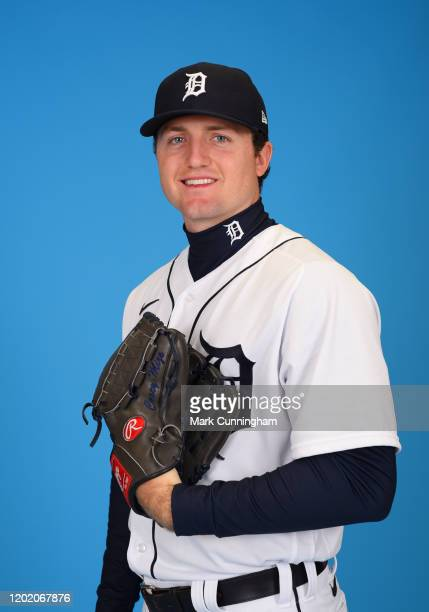 Casey Mize of the Detroit Tigers poses for a photo during Photo Day at the TigerTown Facility on February 20, 2020 in Lakeland, Florida.