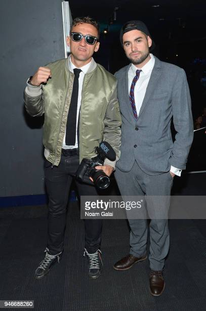Casey Neistat and Dan Mace attend the 10th Annual Shorty Awards at PlayStation Theater on April 15 2018 in New York City