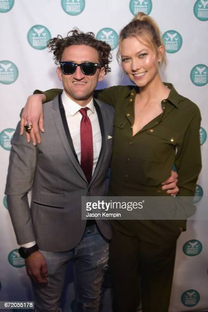 122994a421 Casey Neistat and Karlie Kloss pose backstage at the The 9th Annual Shorty  Awards on April
