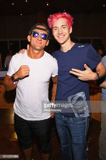 Casey Neistat and Ninja attend After Unpacked An Evening For The Rest Of Us Samsung 837 VIP Party at Boom Boom Room on August 9 2018 in New York City
