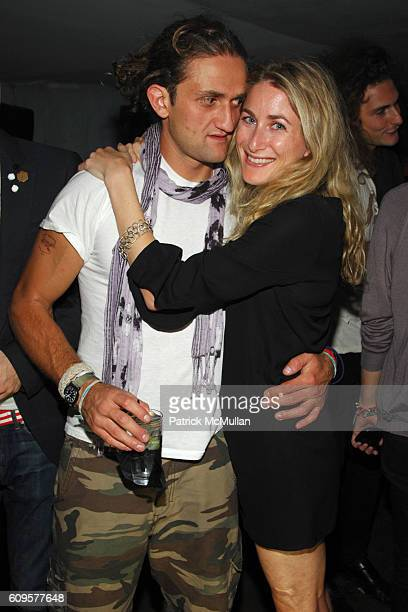 Casey Neistat and Sari Gueron attend PURPLE FASHION MAGAZINE Party Just for FUN at Beatrice Inn on September 12 2007 in New York City