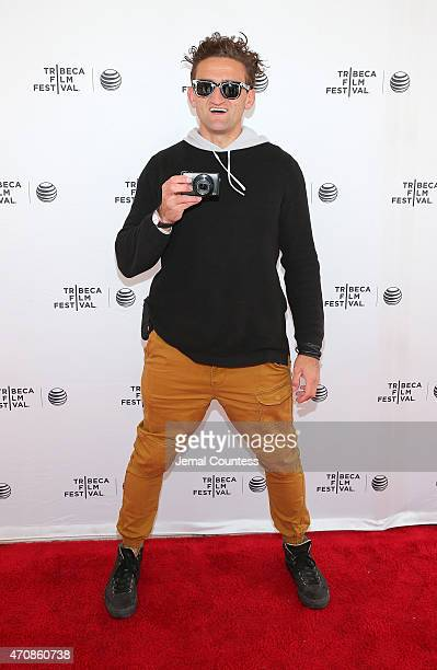 Casey Neistat attends the Tribeca Talks Snap It Vine It Tube It Panal during the 2015 Tribeca Film Festival at SVA Theater on April 23 2015 in New...
