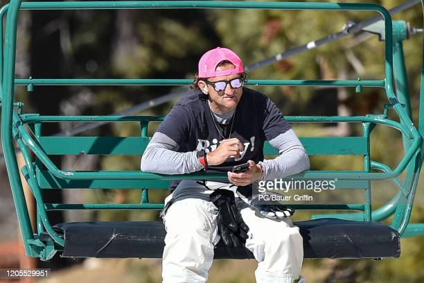 Casey Neistat is seen at Snow Summit ski resort on March 06, 2020 in Big Bear Lake, California.