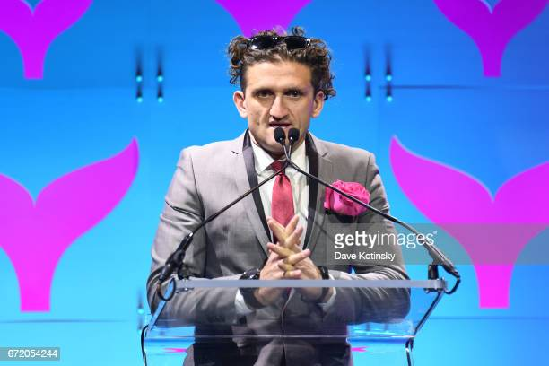 Casey Neistat presents an award at The 9th Annual Shorty Awards on April 23 2017 in New York City