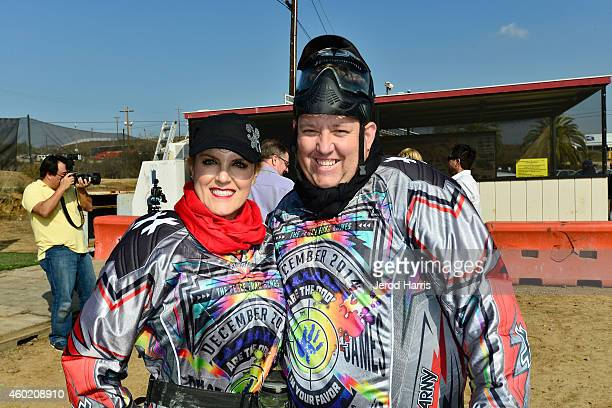 Casey Nezhoda and Rene Nezhoda attend PEACE Fund's 1st annual celebrity paintball tournament at Camp Pendleton on December 7, 2014 in Oceanside,...