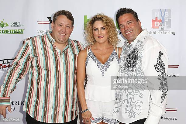Casey NezhodaGeorge KozelRenee Nezhoda attend The Peace Fund annual charity celebrity poker tournament on September 26 2015 in Playa Vista California