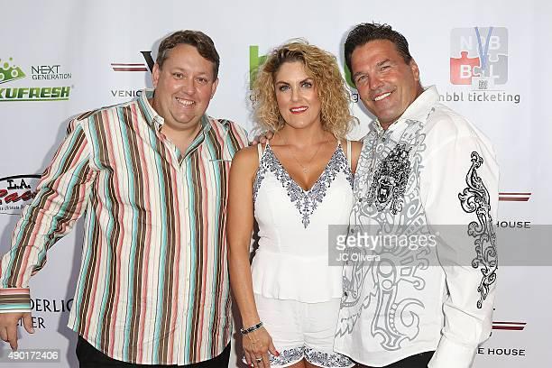 Casey Nezhoda;George Kozel;Renee Nezhoda attend The Peace Fund annual charity celebrity poker tournament on September 26, 2015 in Playa Vista,...