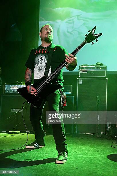 Casey Orr performs on stage with Wizards of Gore AKA Rigor Mortis during the Housecore Horror Film Music Festival at Emo's on October 24 2014 in...