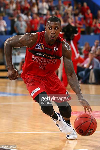 Casey Prather of the Wildcats drives to the basket during the round 10 NBL match between the Perth Wildcats and Melbourne United at Perth Arena on...