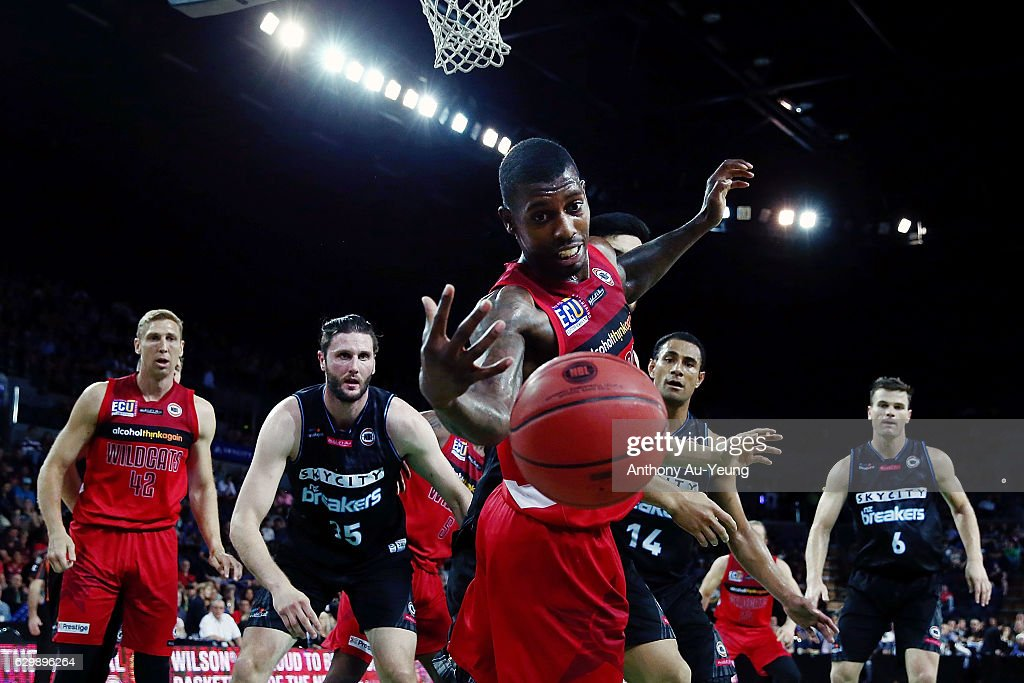 Casey Prather of the Wildcats loses the ball during the round 11 NBL match between New Zealand Breakers and Perth Wildcats at Vector Arena on December 15, 2016 in Auckland, New Zealand.