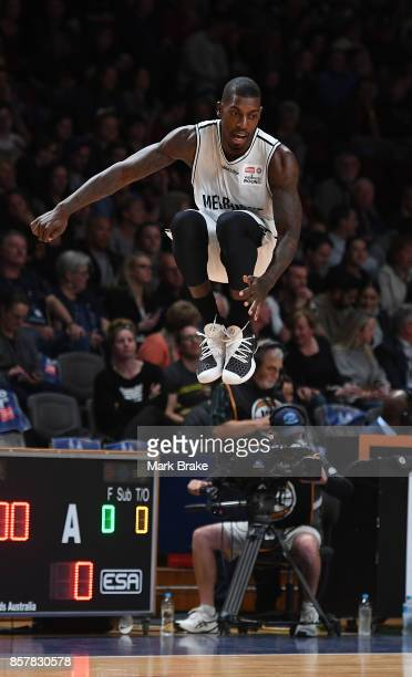 Casey Prather warms up before round one NBL match between the Adelaide 36ers and Melbourne UInited at Titanium Security Arena on October 5 2017 in...