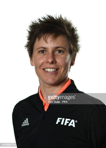 Casey Reibelt of Australia poses for photographs during the FIFA Women's Referee Seminar on February 14 2018 in Doha Qatar