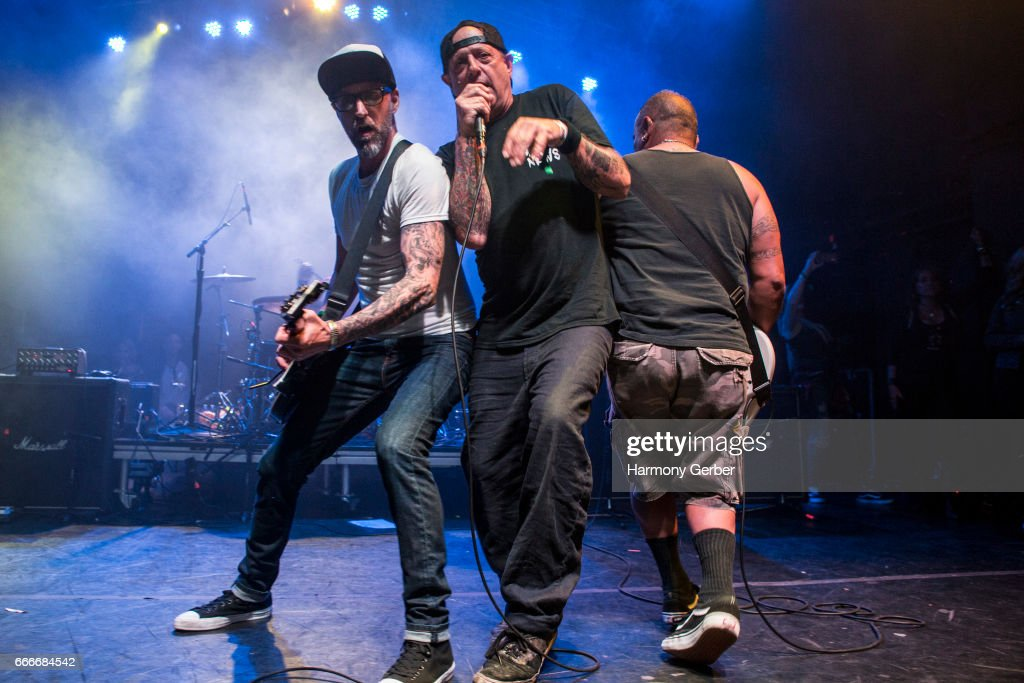 Casey Royer, Clinton Calton and Eddie Tatar of the band D.I. perform during the When We Were Young Festival 2017 during the When We Were Young Festival 2017 at The Observatory on April 8, 2017 in Santa Ana, California.