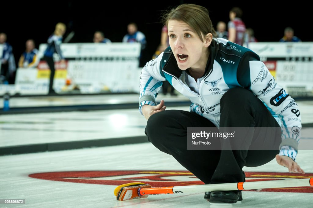 Casey Scheidegger on the ice during 2017 WetJet Players Championship which takes place in Ryerson's Mattamy Athletic Centre, in Toronto, Ontario, Canada on April 13, 2017.