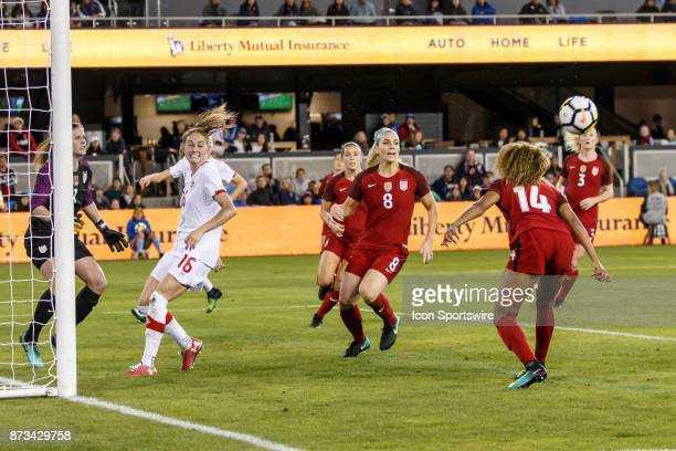 Casey Short Defender for USA heads a dangerous centering pass away from the USA goal during the second half of the international friendly game...
