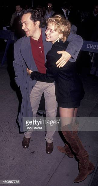 Casey Siemaszko and Nina Siemaszko attend the premiere of LA Story on January 30 1991 at the Museum of Modern Art in New York City