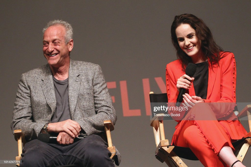 Casey Silver and Michelle Dockery attend the Netflix Celebrates 12 Emmy Nominations For 'Godless' at DGA Theater on August 9, 2018 in Los Angeles, California.