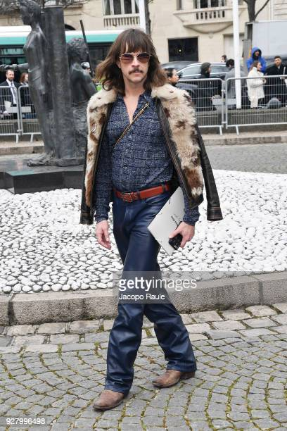 Casey Spooner attends the Miu Miu show as part of the Paris Fashion Week Womenswear Fall/Winter 2018/2019 on March 6 2018 in Paris France