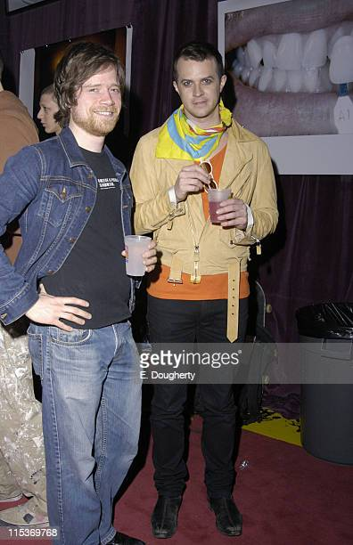Casey Spooner of Fischerspooner and guest during Fischerspooner 'Odyssey' CD Release Party at FS Studio in Brooklyn New York