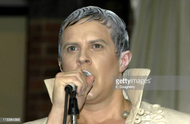 Casey Spooner of Fischerspooner during Fischerspooner in Concert at the Canal Room in New York City May 26 2005 at Canal Room in New York City New...