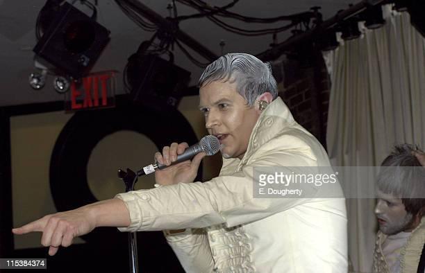 Casey Spooner of Fischerspooner during Fischerspooner in Concert at the Canal Room in New York City - May 26, 2005 at Canal Room in New York City,...