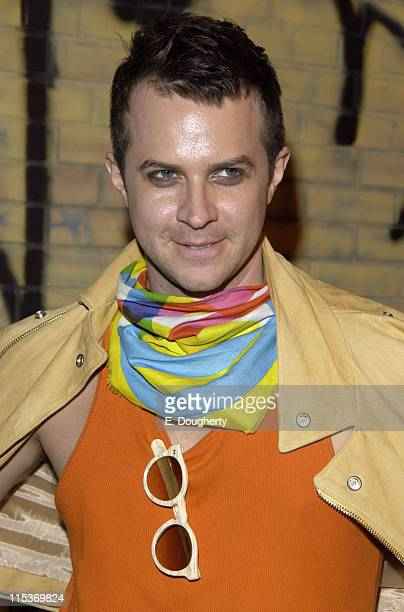 Casey Spooner of Fischerspooner during Fischerspooner 'Odyssey' CD Release Party at FS Studio in Brooklyn New York