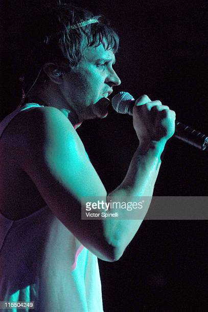 Casey Spooner of Fischerspooner during Manumission Ibiza Rocks Opening Show at Manumission in Ibiza Spain