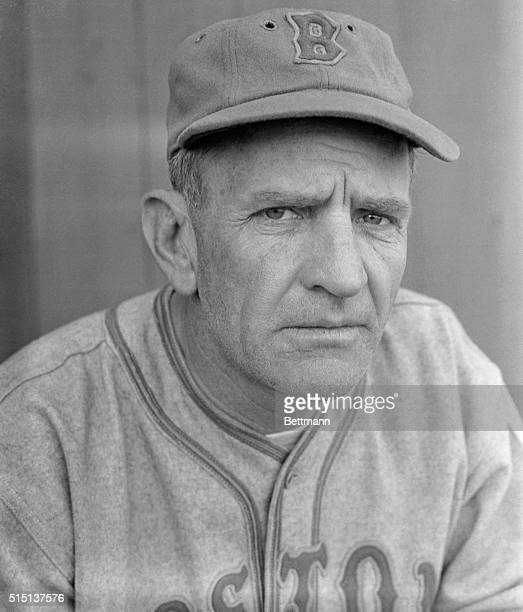 Casey Stengel new manager of the Boston Bees casting the well known eagle eye over his squad as they worked out recently at their spring training camp