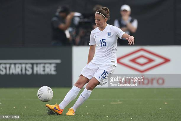 Casey Stoney of England advances the ball against Canada during their Women's International Friendly match on May 29 2015 at Tim Hortons Field in...