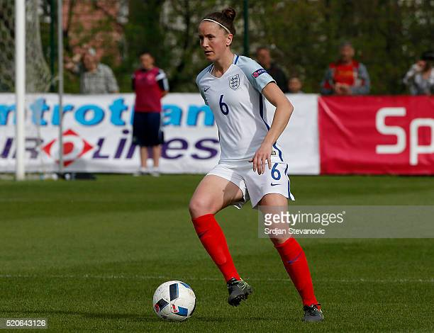 Casey Stoney of England in action during the UEFA Women's European Championship Qualifier match between Bosnia and Herzegovina and England at FF BIH...