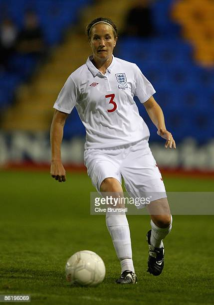 Casey Stoney of England in action during the Women's International Friendly between England and Norway at the Prostar stadium on April 23 2009 in...