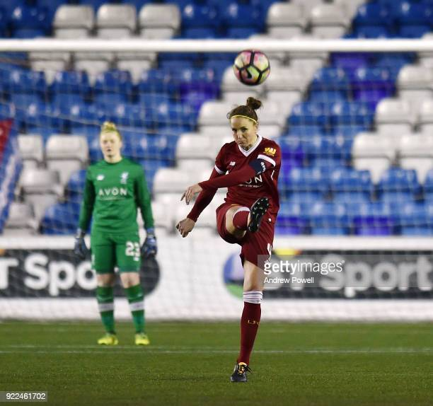 Casey Stoney of Liverpool Ladies during the FA WSL match between Liverpool Ladies and Sunderland Ladies at Select Security Stadium on February 21...