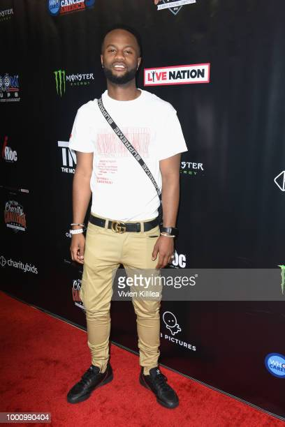 Casey Veggies attends 50K Charity Challenge Celebrity Basketball Game at UCLA's Pauley Pavilion on July 17 2018 in Westwood California