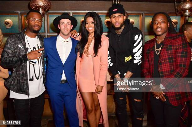 Casey Veggies Danny Evans Karen Civil Dave East and Ace Hood attend an RGB Dinner at Toca Madera on February 13 2017 in Los Angeles California