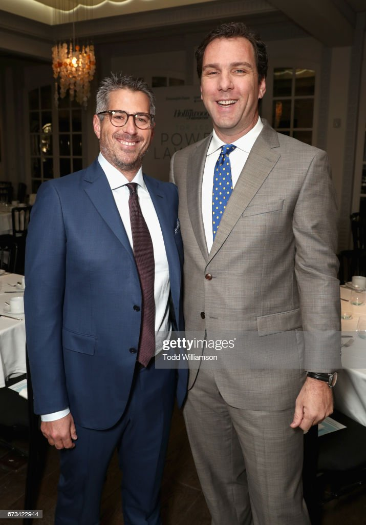 Casey Wasserman and Editorial Director of The Hollywood Reporter Matt Belloni attend The Hollywood Reporter Power Lawyers Breakfast 2017 at Spago on April 26, 2017 in Beverly Hills, California.