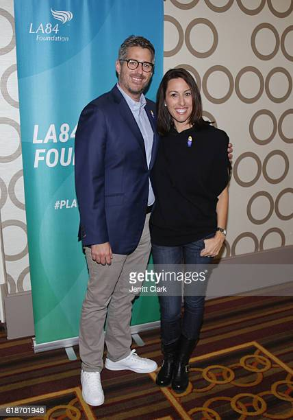 Casey Wasserman and Janet Evans attend 5th Annual LA84 Foundation Summit on October 27 2016 in Los Angeles California
