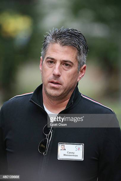Casey Wasserman chief executive officer of Wasserman Media Group attends the Allen Company Sun Valley Conference on July 9 2015 in Sun Valley Idaho...