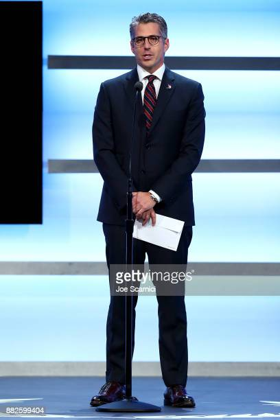 Casey Wasserman is seen on stage during the 2017 Team USA Awards on November 29 2017 in Westwood California