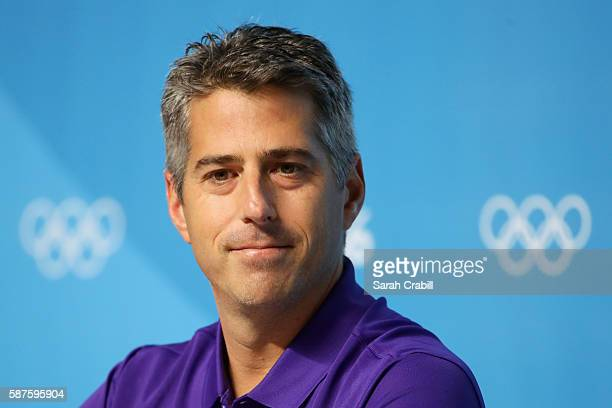 Casey Wasserman speaks during a LA24 press conference on Day 4 of the Rio 2016 Olympic Games on August 9 2016 in Rio de Janeiro Brazil