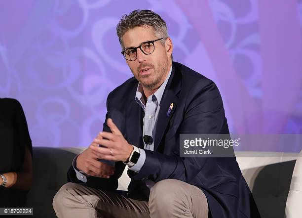 Casey Wasserman speaks during the 5th Annual LA84 Foundation Summit on October 27 2016 in Los Angeles California