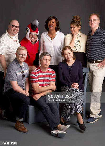 Casey Willis Chad Hurd Lucky Yates Chris Parnell Aisha Tyler Jessica Walter Amber Nash and Matt Thompson from FXX's 'Archer' pose for a portrait in...