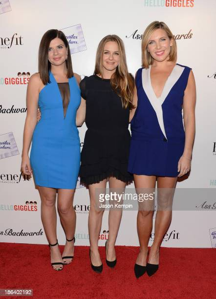 Casey Wilson Alicia Silverstone and June Diane Raphael attend the premiere of Gravitas Ventures' Ass Backwards at the Vista Theatre on October 30...