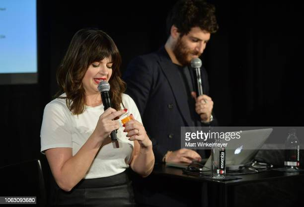 Casey Wilson and Adam Pally attend 'Adam Pally and Casey Wilson: An Excuse to Hang Out: An Evening of Music, Comedy, and Friendship' during the...