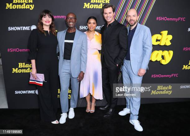 Casey Wilson Don Cheadle Regina Hall Andrew Rannells and Paul Scheer attend FYC Red Carpet Event For Showtimes' Black Monday at Saban Media Center on...