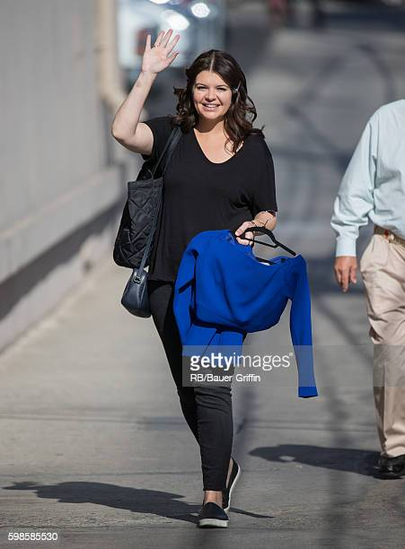 Casey Wilson is seen at 'Jimmy Kimmel Live' on September 01 2016 in Los Angeles California