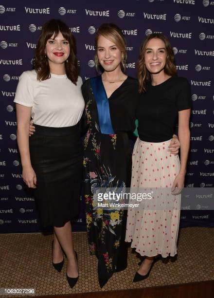 Casey Wilson Leslie Grossman and Danielle Schneider attend 'Bitch Sesh Live' during Vulture Festival presented by ATT at Hollywood Roosevelt Hotel on...