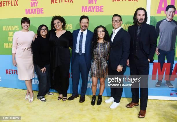 Casey Wilson Nahnatchka Khan Michelle Buteau Randall Park Ali Wong Daniel Dae Kim and Keanu Reeves arrive at the premiere of Netflix's Always Be My...