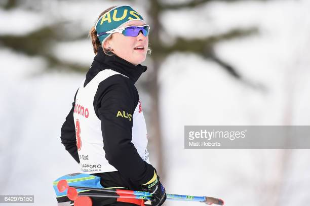 Casey Wright of Australia looks on before the Women's Cross Country 14 km Individual Sprint Classical on day three of the 2017 Sapporo Asian Winter...